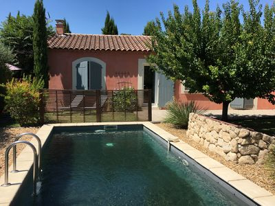Photo for Gite in the village of Maussane les Alpilles swimming pool