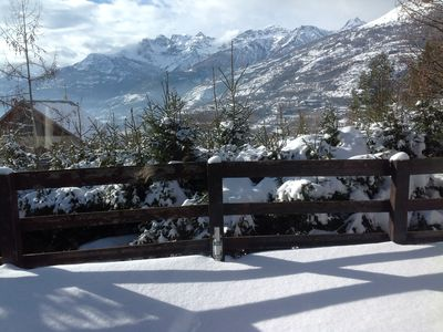 Photo for Chalet of 180m², exceptional view facing south. Large spaces, linen provided.