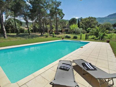 Photo for Villa 4ch with private pool, Calvi pinewood, beach walk