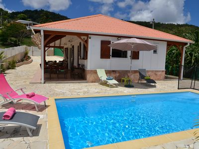 Photo for Creole villa with all mod cons, with swimming pool, near the Diamant beach.