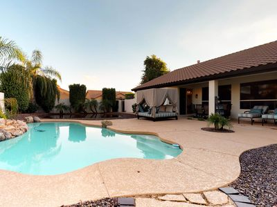 Photo for Scottsdale home w/private pool, hot tub & grill- near shopping!