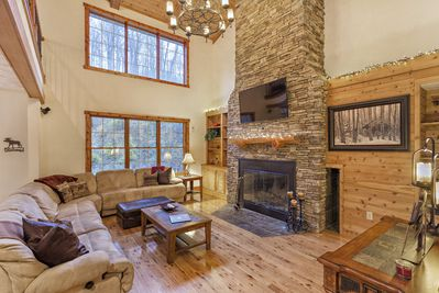 Great Room - Wood Burning Fireplace