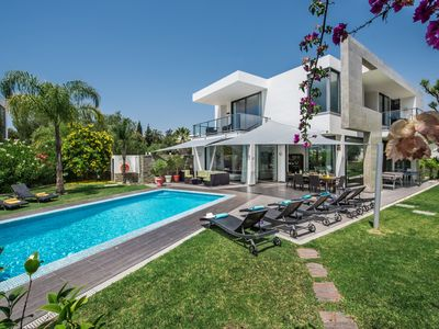 Photo for 4 in Suite Villa with *Heated Pool* when  required, free WIFi Private pool