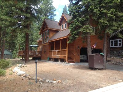Photo for Charming cabin centrally located close to speedboat beach and skiing