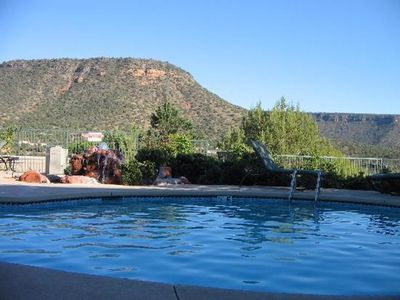 Photo for LARGE 2 BDRM SLEEPS 8 ~HEATED POOLS/TRAILS/GOLF/HIKING/BIKING/GREAT LOCATION