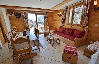 Photo for Ski-in ski-out apt for 6 only yards from the chairlifts!!