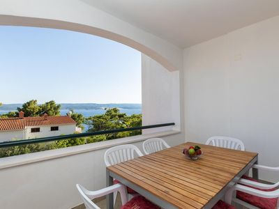 Photo for Two bedroom apartment with terrace and sea view Medići, Omiš (A-1046-d)