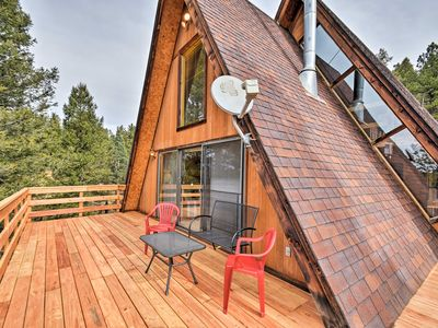 Photo for A-Frame Cabin w/Mtn Views - 4 Mi to Cripple Creek!