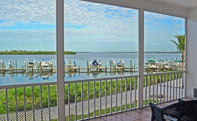 Beautiful view of Lemon Bay from the screened balcony.