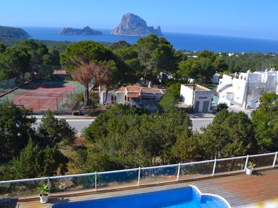 Photo for Es Vedra, Villa overlooking the sea in Cala Carbo