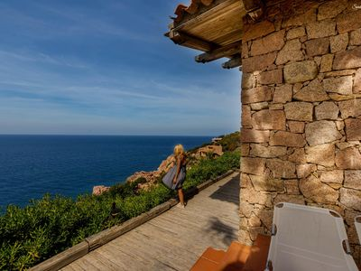 Photo for La Macchia: from the terrace directly to the sea