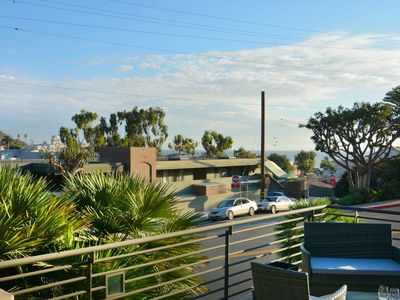Photo for Stunning two bedroom 2. 5 bath condo overlooking Downtown Laguna Beach, walk everywhere!
