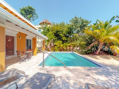 Photo for Bright home w/ private pool, free WiFi, & concierge service - walk to the beach!