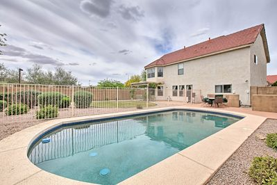 Cool off under the hot Arizona sun with help of the private swimming pool!