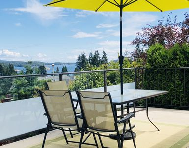 Photo for Enjoy your morning coffee while gazing at the 180 view of Gibsons from the deck!