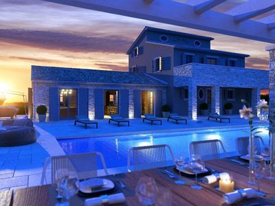 Photo for Fantastic designer villa with stunning sea views and large pool