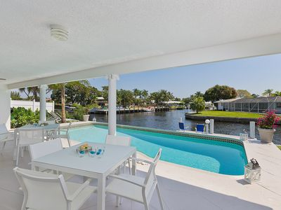 Photo for Aqua Vista - Top modern waterfront home w/ pool, dock, & close to beach