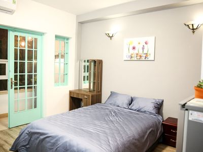 Photo for 30m2 Private, Bright Studio + Balcony - 1 min walk to Ben Thanh Market
