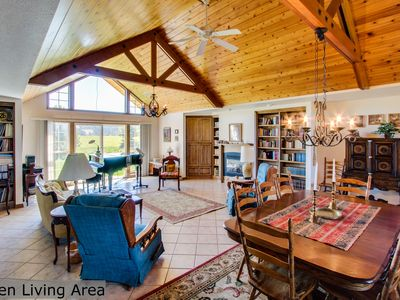 Photo for Bright and airy, spacious dog-friendly home on five acres!