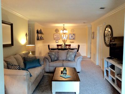 Photo for January availability! Large, comfy condo with everything you'll need!