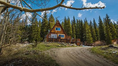 Photo for Cozy Alma A Frame Cabin near Hoosier Pass *15 miles to Breckenridge*Pups welcome