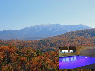 Photo for Swimming in the Smokies, Private Pool, Breathtaking Views, Theater Room, Zipline