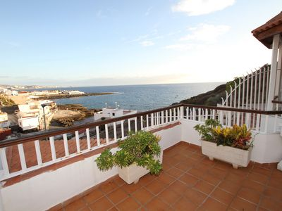 Photo for Sea front apartment with roof terrace and stunning views