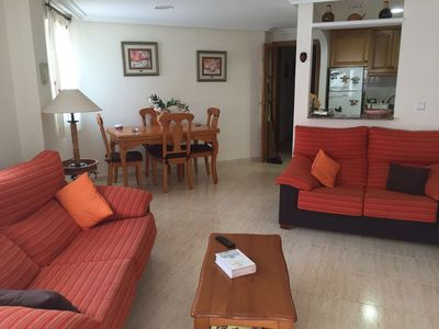 Photo for Spacious and bright apartment 5 min. walking from the Mediterranean Sea.