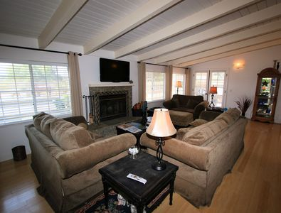 Another view of the comfortable home away from home living room.