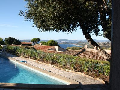 Photo for Les Issambres: single-storey villa with a panoramic view of bay of Saint-Tropez