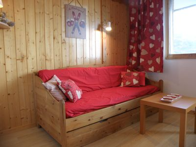 Photo for Studio 4 people ski in Les Menuires with cleaning included