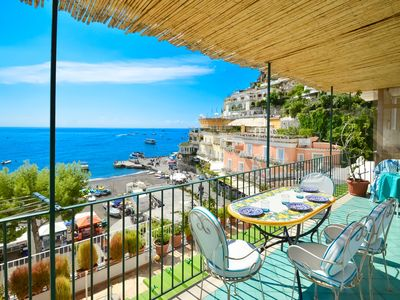 Photo for Charming house CASA RAFFI with sea view near Positano's Spiaggia Grande beach