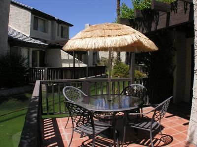 Photo for Spacious Spanish Style Condo in Los Pueblos+Koi Filled Lagoon+Pool&Spa