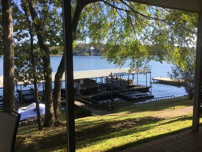 Photo for Lake Hamilton Main Channel Condo - Fantastic Lake View with covered boat stall
