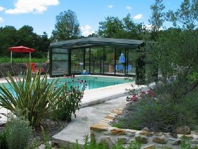 Photo for Between Jurançon Pyrénées and béarnaise farmhouse with heated indoor pool