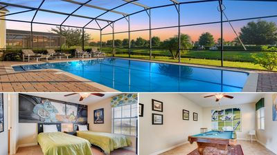 Photo for Grand and beautiful 6 Bed Pool Villa in Providence Golf & Country Club- Close to Disney *Free Grill