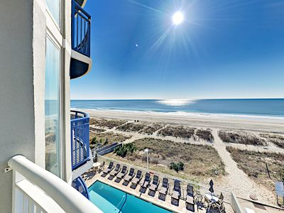 Photo for Beachfront 1BR w/ Private Balcony, Shared Pool & Hot Tub - By Grand Strand
