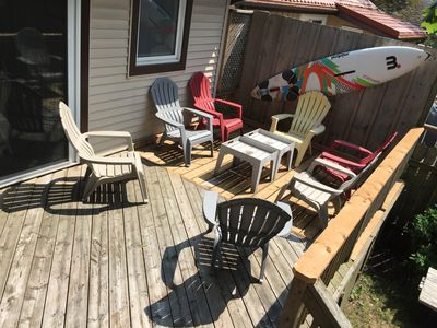 Photo for Big DECK Cottage, only 3 minute walk to BEACH 4 bdrms, sleeps 11, parking 4 cars