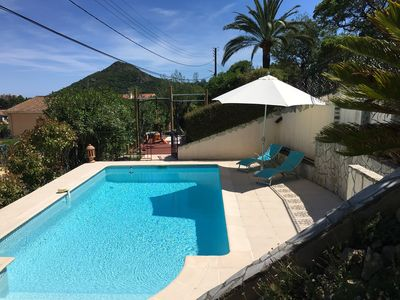 Photo for 3 rooms with swimming pool; pergola for 4 people near Cannes