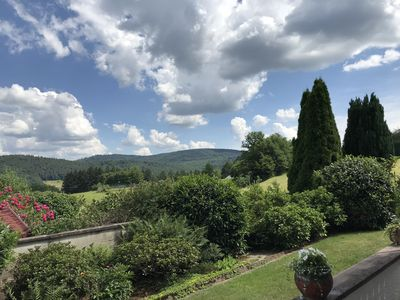 Photo for Chic furnished apartment in a beautiful location with blooming gardens and views