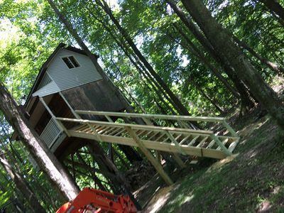 Photo for Woody's Treehouse Hideaway In French Creek,W.Va reviews on airbnb