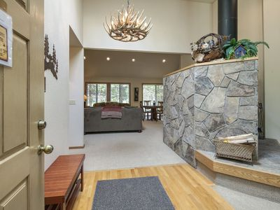 Photo for Single level home with A/C & a private hot tub