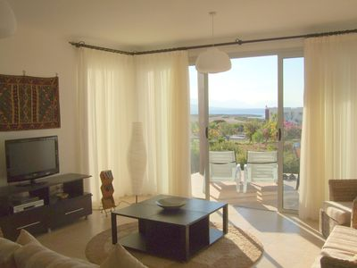 Photo for Luxury beachside 3 bed garden apartment. Secure gated development.