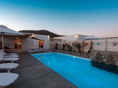 Photo for Cycladic Breeze villa is a charming swimming pool villa with great sea view