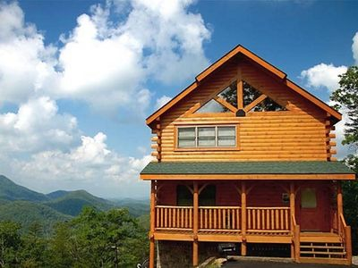 Photo for Eagles Nest| Majestic Mountain Views | Tons of Windows | Game Room | Hot Tub | Pigeon Forge