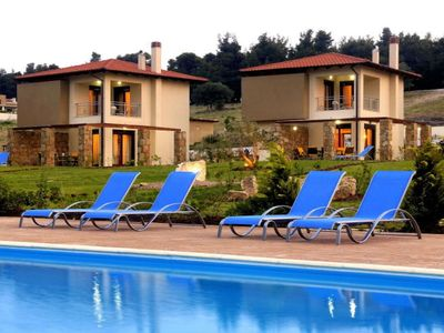 Photo for Luxurious villas with swimming pool in Sani