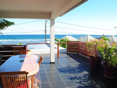 Photo for superb luxury villa, waterfront, terrace, pool and beach / lagoon.