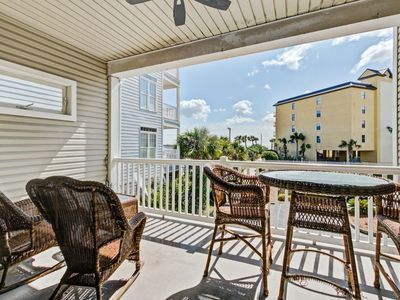 Photo for Firstfloor beach unit with Gulf and ocean views and two covered decks