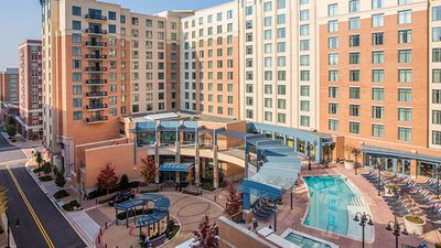 Photo for Beautiful 2 BR Suite with balcony overlooking National Harbor! Great location!