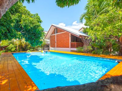 Photo for ⭐The Brown Timber Villa 4BR Sleeps 10 w/ Pool in City